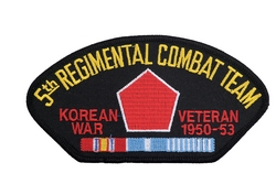 5th Regimental Combat Team Korean War Veteran Patches